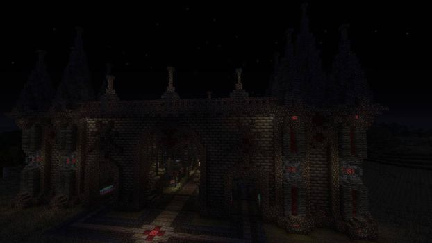 The gate at night by Pix3lMin3r