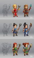 Characters Concepts by AdrianDIS