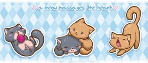 a meow massages the heart by PeterPan-Syndrome