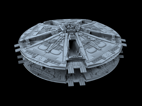 Cylon Basestar 02 by peterhirschberg