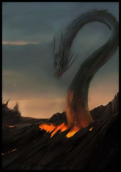 Lava serpent by thebigT