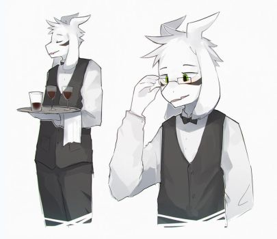your local goat waiter by Keponii