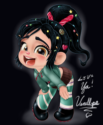 Vanellope - Hey! I'm a Real Racer Now! by artistsncoffeeshops