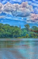 View from Beaucaire to Tarascon by jennystokes