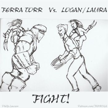 Logan And Laura Vs. Ferra Torr MK Style by zenx007