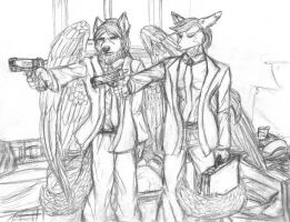 Pulp Fiction Furry Commission by krazykelli