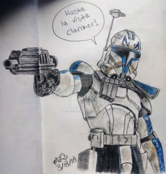 Captain Rex in Action by lordhadrian