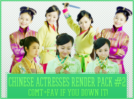 Chinese Actresses Render Pack #2 by Know-chan