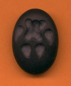 Black Pawprint Pendant by DonSimpson