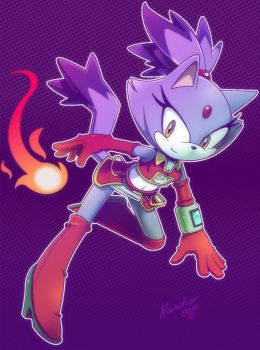 Blaze the cat with a new design by nancher