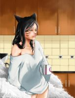 Sunday morning Ahri by Whirld