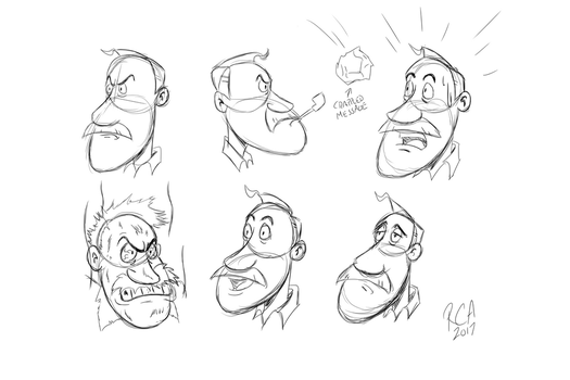 Chief Quimby (Face Expressions) by robertamaya