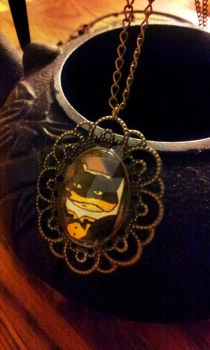Steampunk Finn, Prince Hot-Bod Cameo Necklace by TreeTopFoxx