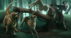 Hunting YCH -The wild hunt is done! by Elekses