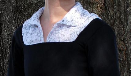 Faux blackworkshirt close up by CenturiesSewing