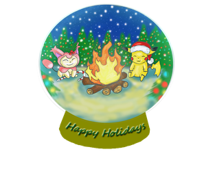 Pokemon Holiday by darkkairi