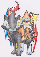 Luxray and Monferno