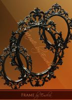 Black Baroque Frame - png-files by Euselia
