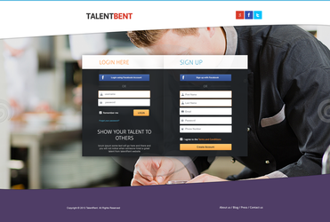 Signup landing page for sale by ahsanpervaiz