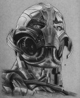 Ultron drawing by hg-art