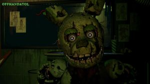 Springtrap Jumpscare (right side) v3 by offhandatol