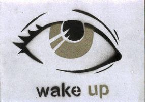 wake up stencil by killingspr