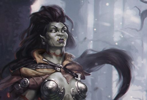 OrcChick WIP by popisus