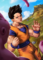 Gohan V Buu by Andronex