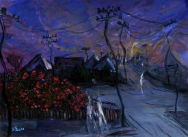 Ghosts Out Walking On Dusk'  90cmx70cm 2222 by glenox66
