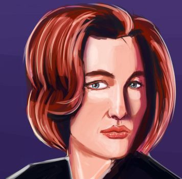 Dana Scully portrait by ruzkin