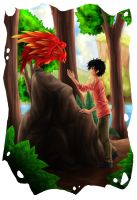 Albus Severus and Fawkes by Iksia