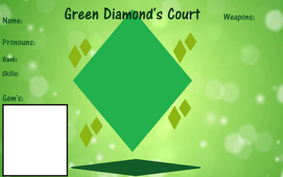Green Diamond's Court Template by Queen-vaeGa