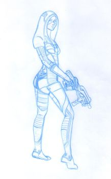 Kasumi Goto pencil sketch for a cover project by animemagix