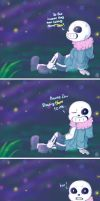 [comic] Under the sea of stars -Dating Sans by janis-roxas