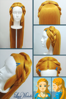PROGRESS: Princess Zelda's Wig from BotW by LayzeMichelle