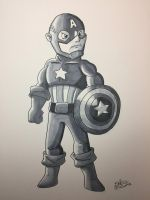Inktober 2017 - Day 3 - Captain America by NoDiceMike