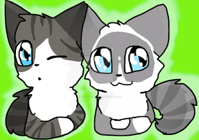 My kitties! by Bindiluckycat
