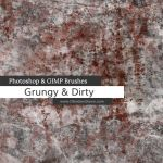 Grungy n Dirty Photoshop and GIMP Brushes by redheadstock