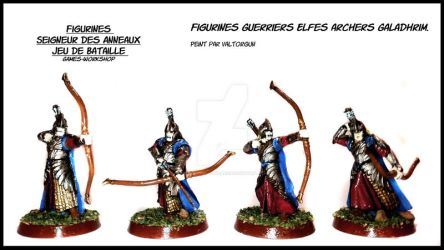 Figurines Warriors Elves bowmen Galadhrim. by Valtorgun-le-Grand