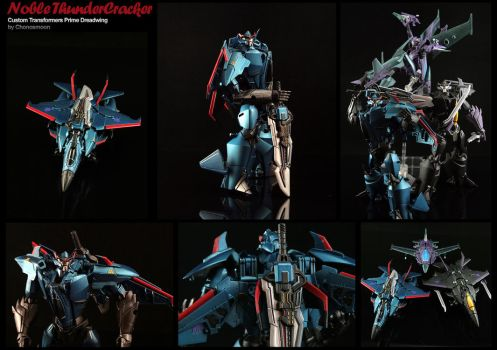 Custom Transformers Prime Warrior Thundercracker by chonosmoon