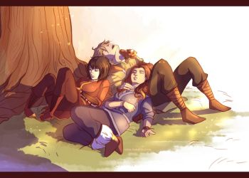 cuddle naps are the best by viria13