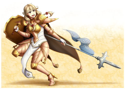CM: Gold Knight Faye by adricarra