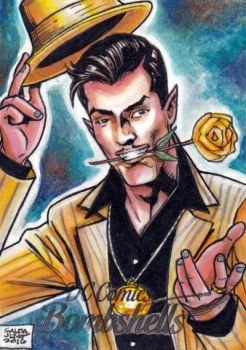 DC Bombshells - SINESTRO sketchcard by JASONS21