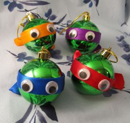 TMNT inspired Christmas Ornament Set by emmadreamstar