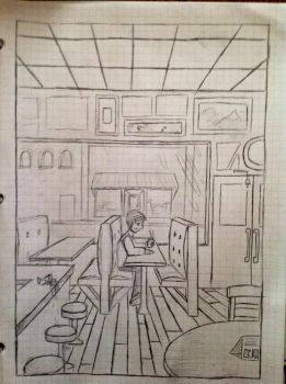 1 Point Perspective sketch by kallehmono