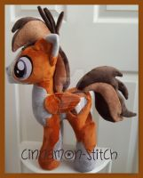 mlp plushie commission WALKER-IRONHEART by CINNAMON-STITCH