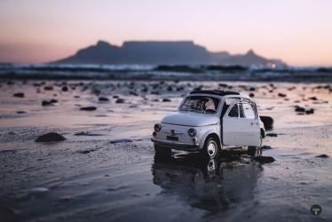 FIAT on Blouberg Beach by Justinlite