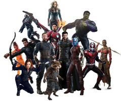 Avengers 4 Team - PNG - UPDATED by Captain-Kingsman16