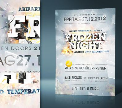 Frozen Night - Flyerdesign by razr-designs
