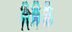 CD miku version 2 MMD DL by princessfox1